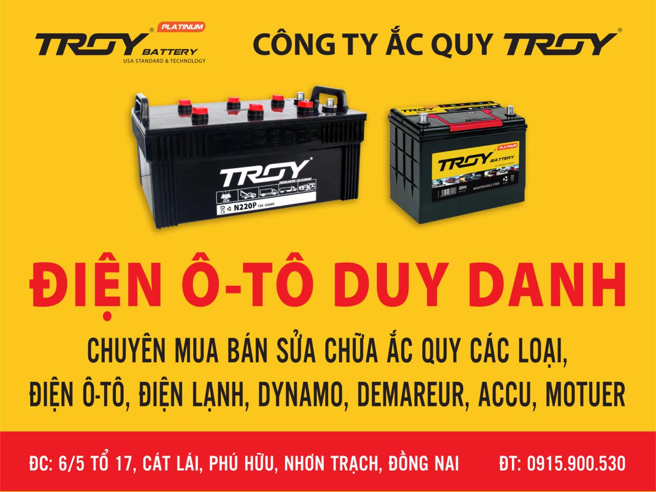 Đại lý ắc quy tại Nhơn Trạch - Đồng Nai